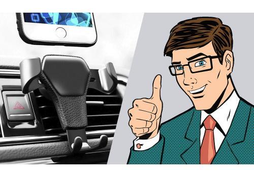 Suport gravitativ pentru telefon în mașină