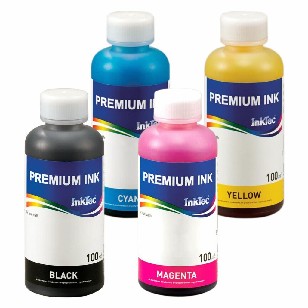 Cerneala InkTec pentru imprimante Canon 100 ml (4 culori)